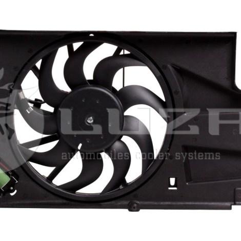 Вентилятор охлаждения радиатора на ВАЗ 2190 (с кожухом)(15-) (тип KDAC)