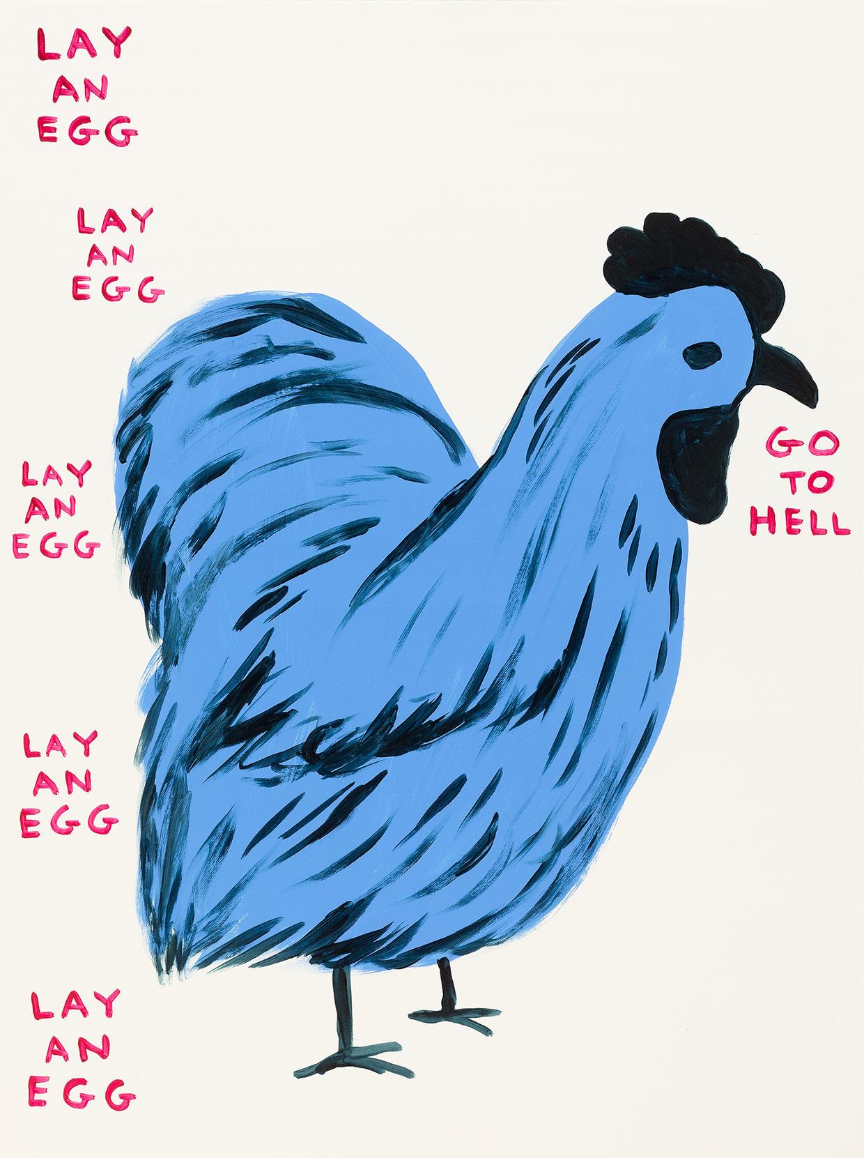 David Shrigley, Untitled (Lay An Egg), 2019. Courtesy kunstneren og Galleri Nicolai Wallner