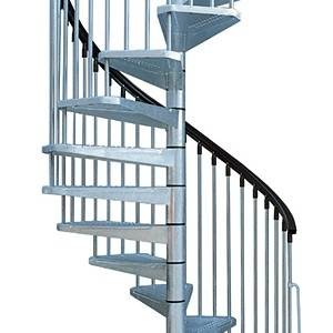 Custom Spiral Diy Staircase Kits Exterior And Interior Stairs | Diy Outdoor Spiral Staircase | Small Space | Before And After | Backyard | Half Circle | Metal