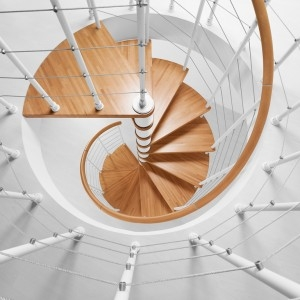 Fontanot Arke Diy Staircase Kits Online | 36 Inch Spiral Staircase | Stair Case | Steel | Steps | Tread Depth | Handrail