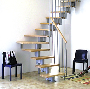 Modular Stairs Online Kits And Costum | 9 Ft Spiral Staircase | Lowes | Toronto V3 | Lowes Com | Wood Treads | Basement Stairs
