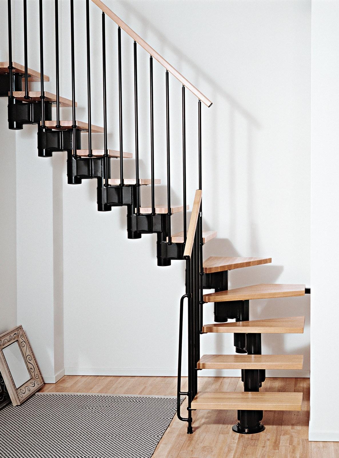 Kompact Adjustable Staircase Kit Metal Steel And Wood Spiral | Semi Spiral Staircase Design | Handrail | Inside | Semi Circular | Elegant | Residential Library