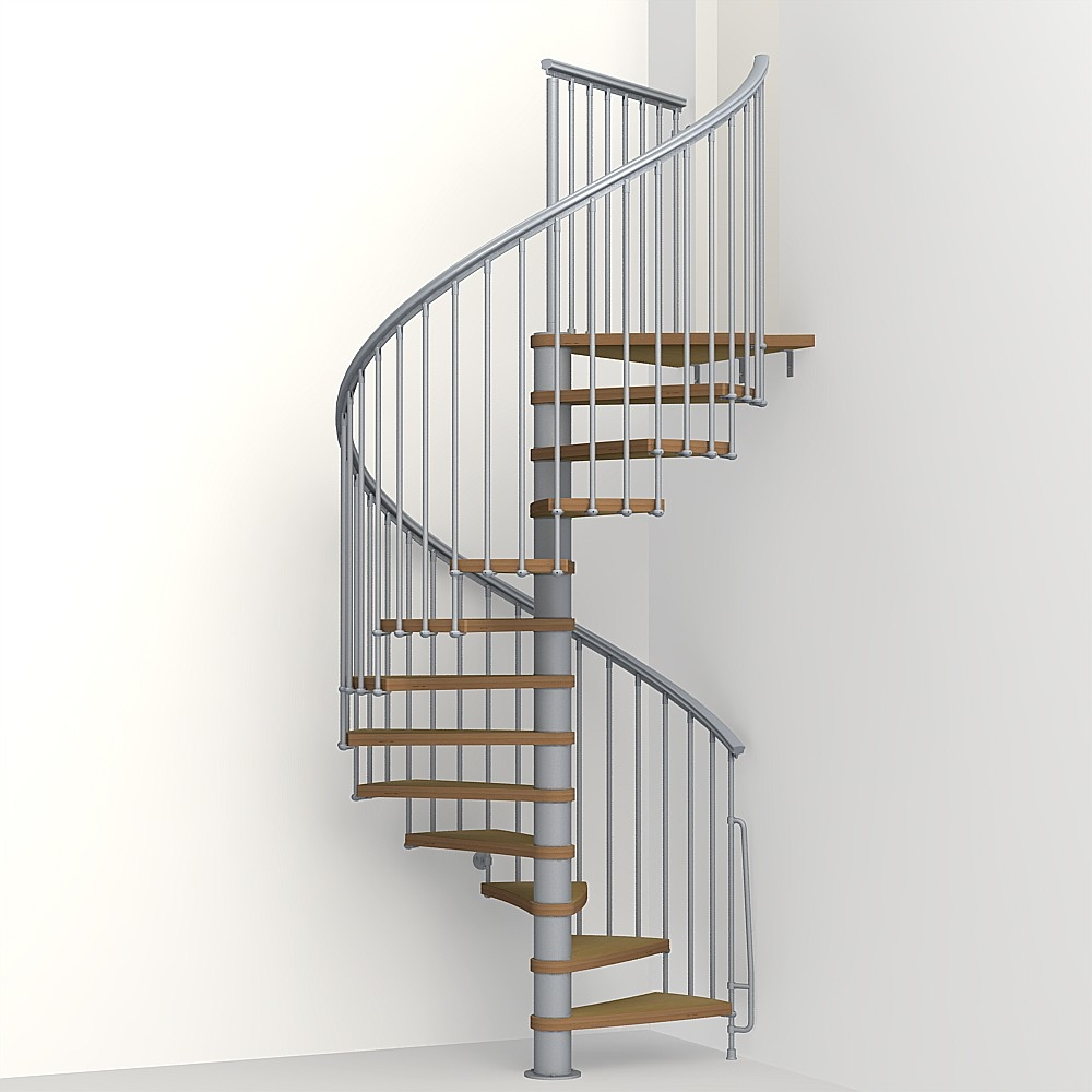 Nice 1 Metal Steel And Wood Spiral Staircase Fontanot | Metal Spiral Staircase Prices | Treads | Wrought Iron | Stair Case | Steel Spiral | Stair Treads