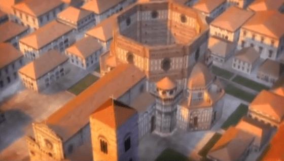 Maqueta de la Catedral de Florencia, sin cúpula.