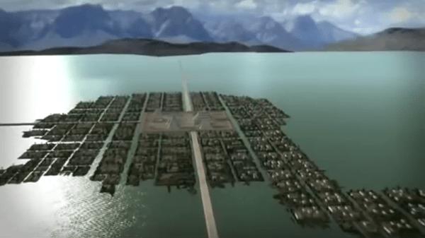 La ciudad de Tenochtitlán en el siglo XVI.