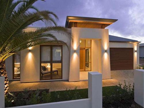 Fachadas de casas peque as - Fachada de una casa ...