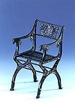 Silla Cast de hierro 1820