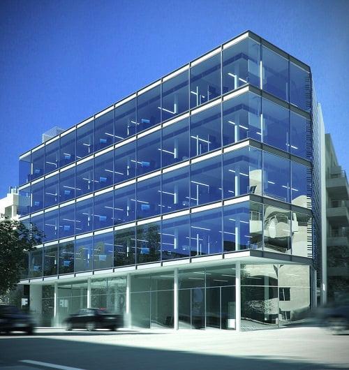 Fachadas modernas de edificios - Edificio de oficinas ...