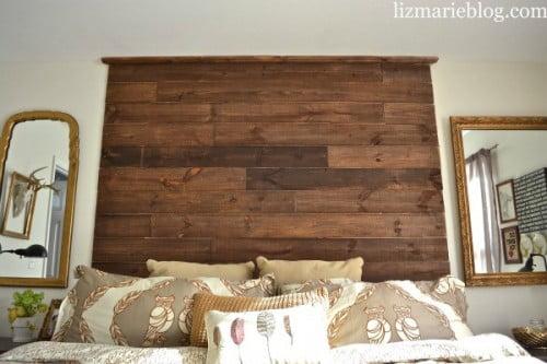 17 cabeceras de cama r sticas incre bles diy arkiplus - Cabecera de cama reciclada ...