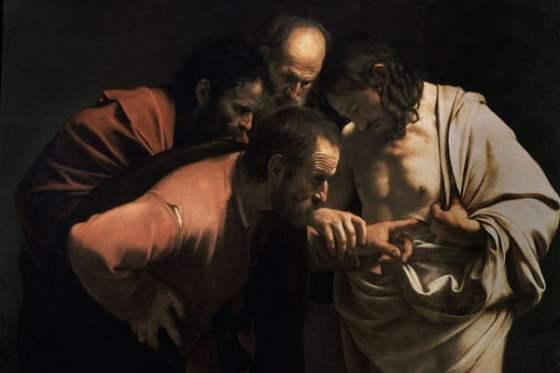 La incredulidad de Santo Tomás es una de las obras más famosas de Caravaggio.