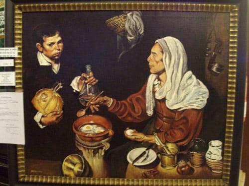 Vieja friendo huevos. Diego de Velázquez.