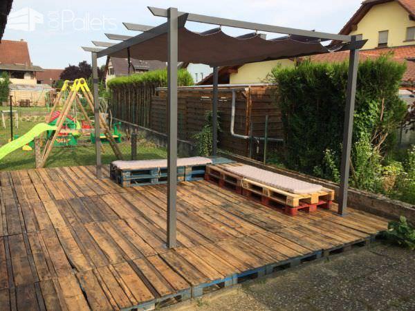 estas son 10 ideas para terrazas hechas de palets - Terraza Con Palets