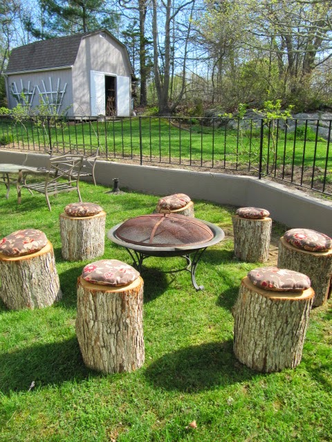 Log Chairs Tree Trunks
