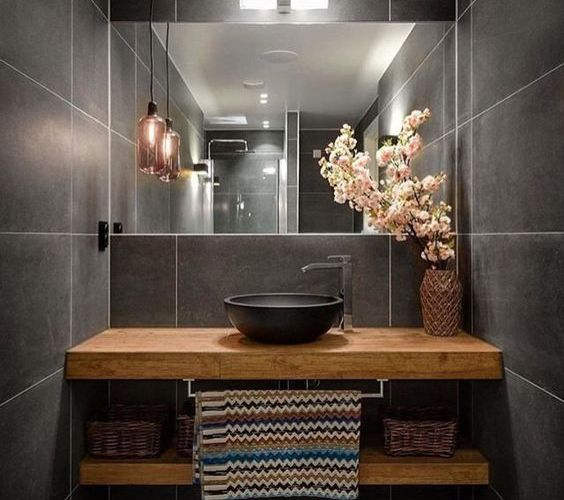 100+ Small Bathroom Ideas and Style Photo Gallery ... on Simple Bathroom Designs For Small Spaces  id=48680