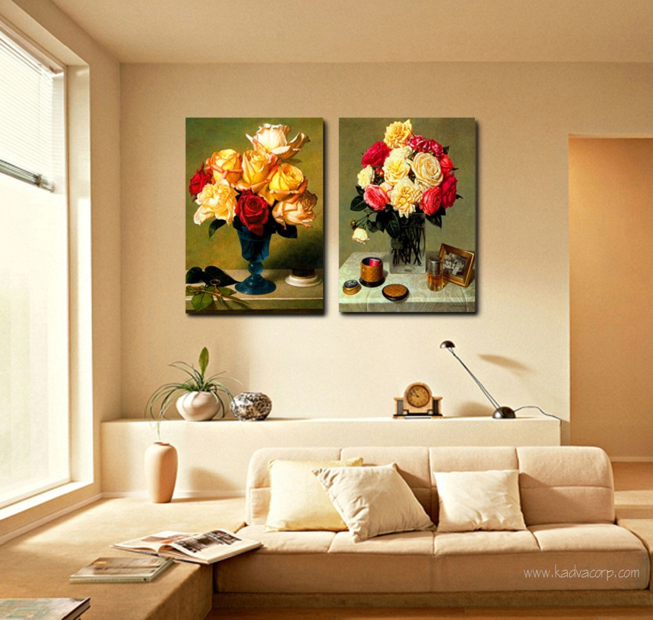canvas painting of flowers,