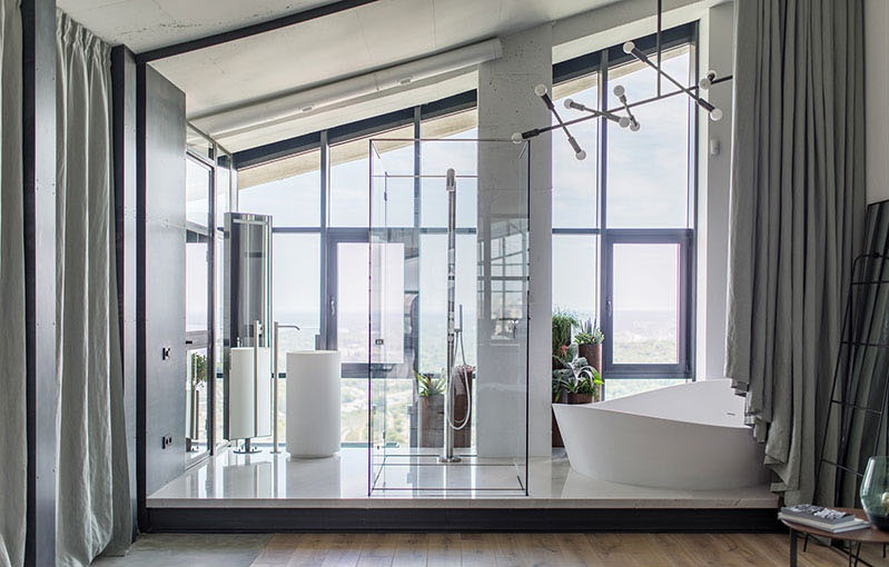 small penthouses design in kiev, penthouses design pictures,