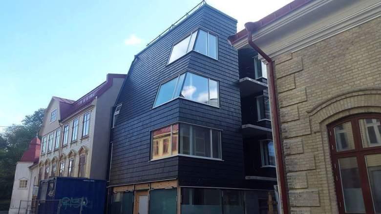 9. Svarta huset på allmänna vägen i Göteborg