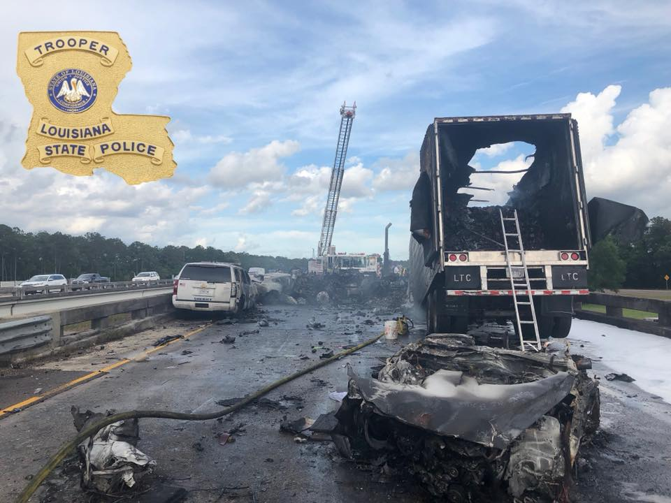 Multiple dead after 18-wheeler wreck on I-12 East in Covington_1527380877560.jpg.jpg