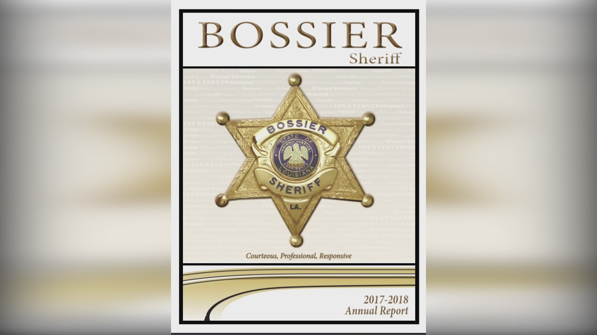 Bossier Parish Sheriff's office 2017-18 annnual report