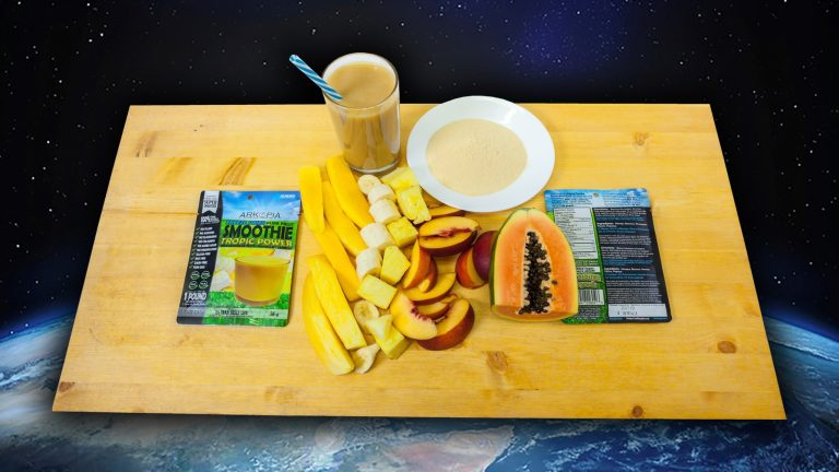 Tropic Tray Space Background