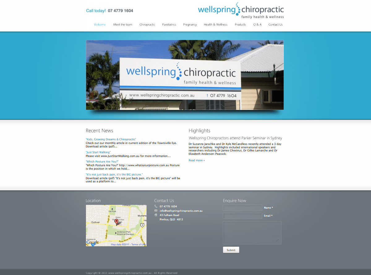 Wellspring Chiropractic Website Design