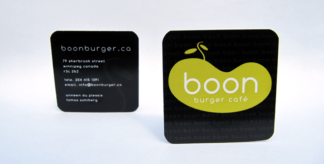 Boon Burger Canada Business Card Design