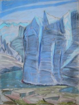 Russell-Gletscher Gegenlicht