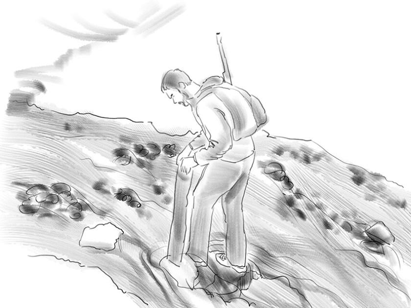 André versucht die Flussdurchquerungc)kheymach