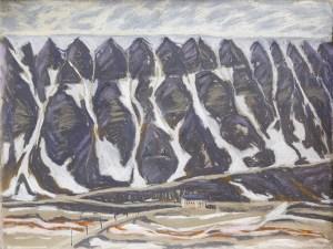 Longyeardalen Longyearbyen, Pastell auf Papier (c) Kerstin Heymach