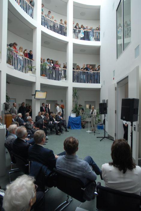 Brandenburgs Ministerin Frau Dr. Münch (Ministerium für Wissenschaft, Forschung und Kultur) sprach Begrüssungsworte