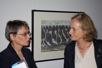 Dr. Annette Rinke und Prof. Dr. Dr. h.c. Karin Lochte, die Direktorin der Alfred Wegener Institute