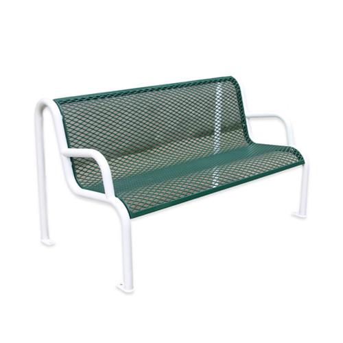 outdoor furniture street steel mesh bench