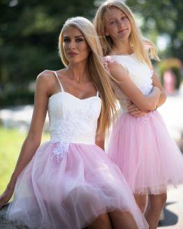 Комплект еднакви рокли за майка и дъщеря Летиция