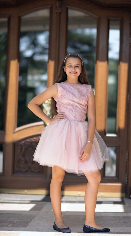 детска рокля с дантела и тюл Каприна