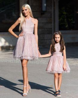 Комплект еднакви рокли за майка и дъщеря Алисия