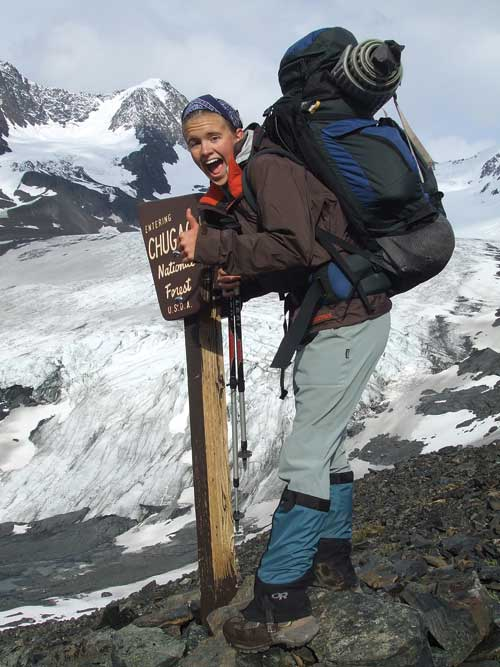 Senior Laura Hoffman poses after a hike through of one of many Alaskan mountain ranges. Photo courtesy Laura Hoffman.