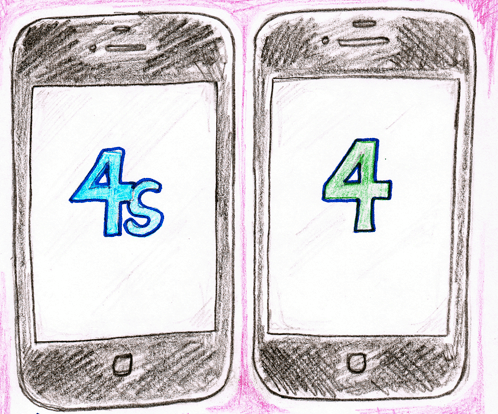 Graphic artist shows differences between iPhone 4S v iPhone 4