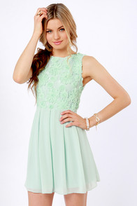lulus.com TFNC mint green dress