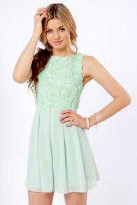 lulus.com TFNC mint green dress