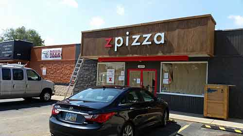 Exterior of ZPizza from parking lot view. Courtesy of bizjournals.com