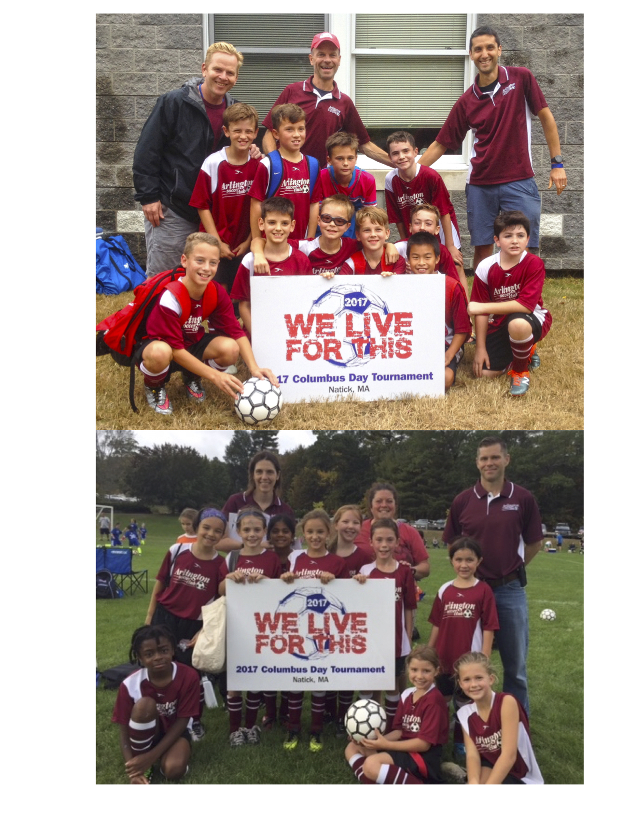 Arlington Honored with 2 Sportsmanship Awards at the Natick Tournament!