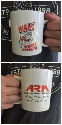 Walk Across Alabama Coffee Mug