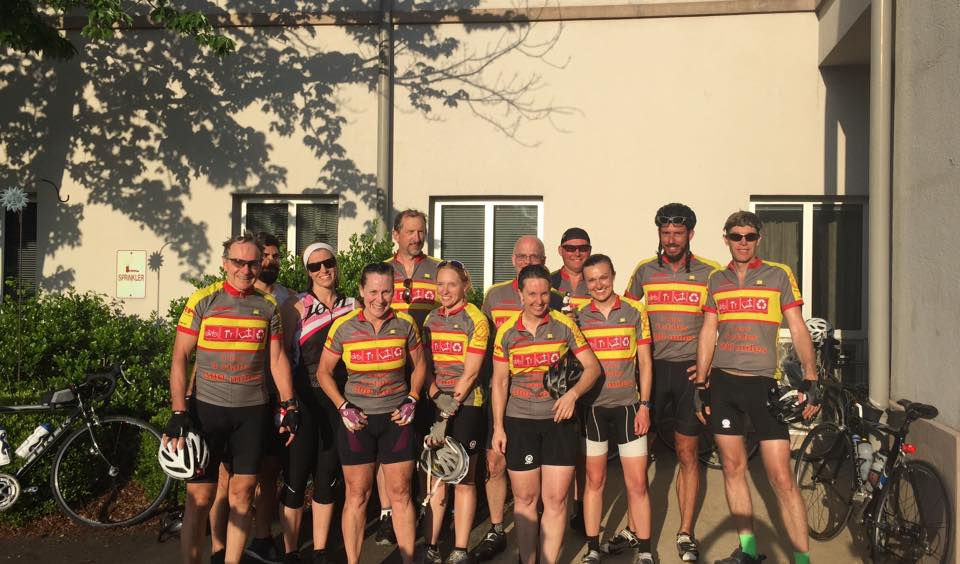 This group of riders completed 300 miles in 2016.