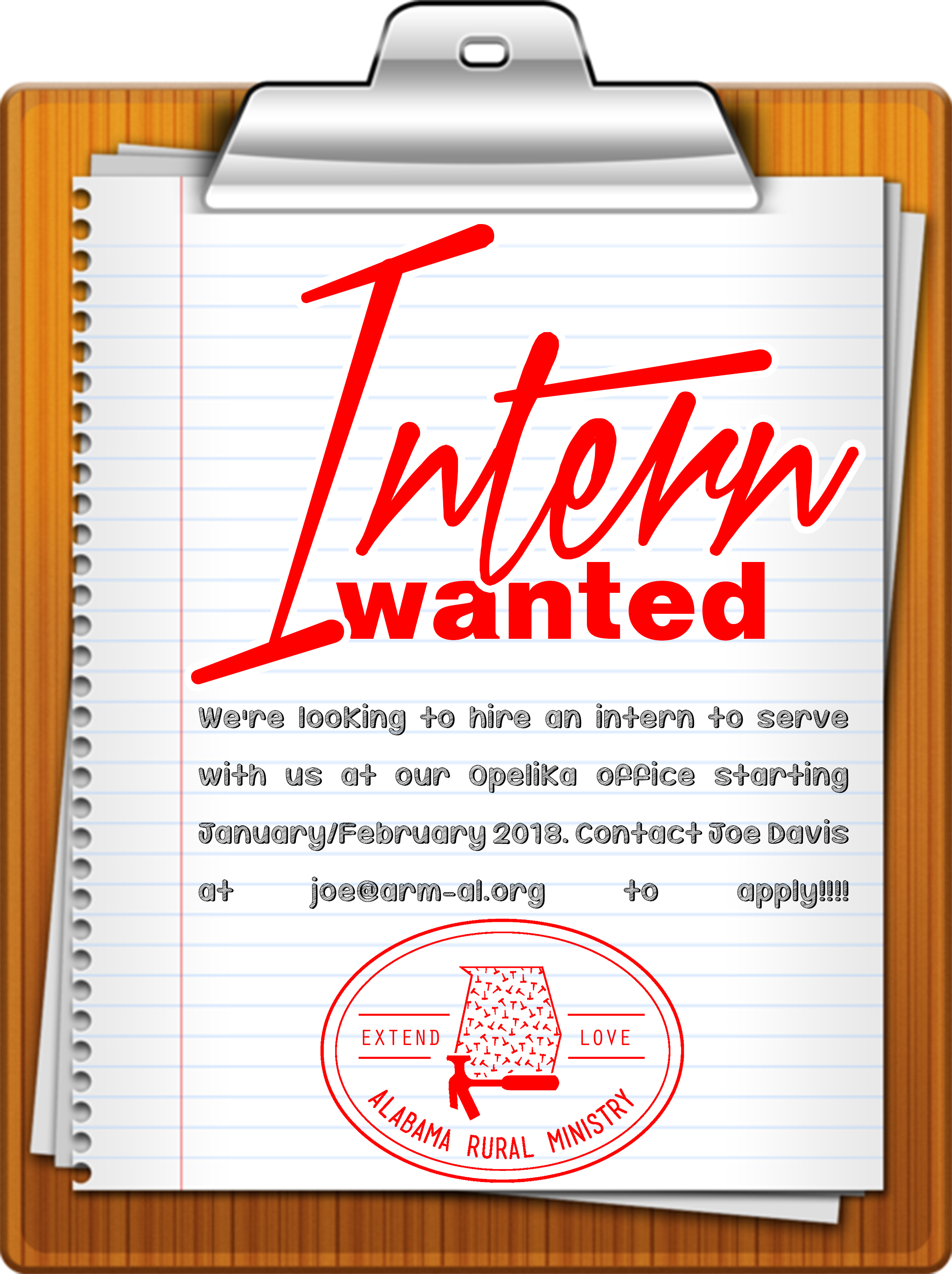 were excited to announce that we are looking for an intern to serve with us beginning januaryfebruary 2018 at our opelika office