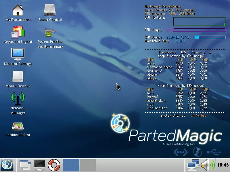 Parted Magic 2017.09.05 Boot ISO