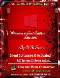 Computer Media Team Presents : Windows 8 Red Edition Lite 2017 Latest Silent Software Included Fully Customized With Green Look Fully Activated No Serial Key Need Beautiful Green Boot Screen Lite Edition In 700MB Download Now
