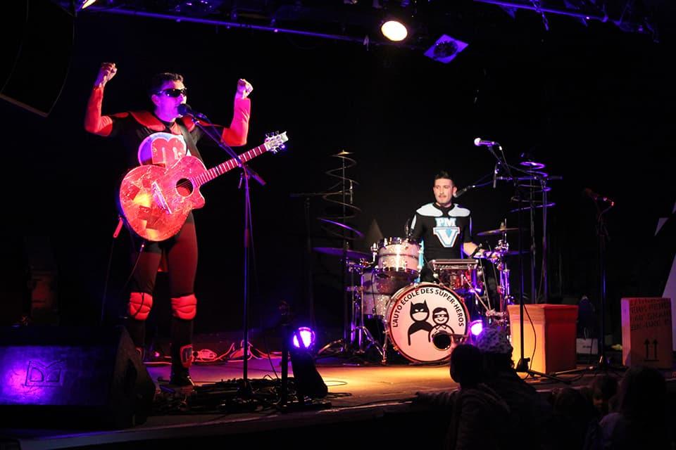 Photo Mosai & Vincent sur scène