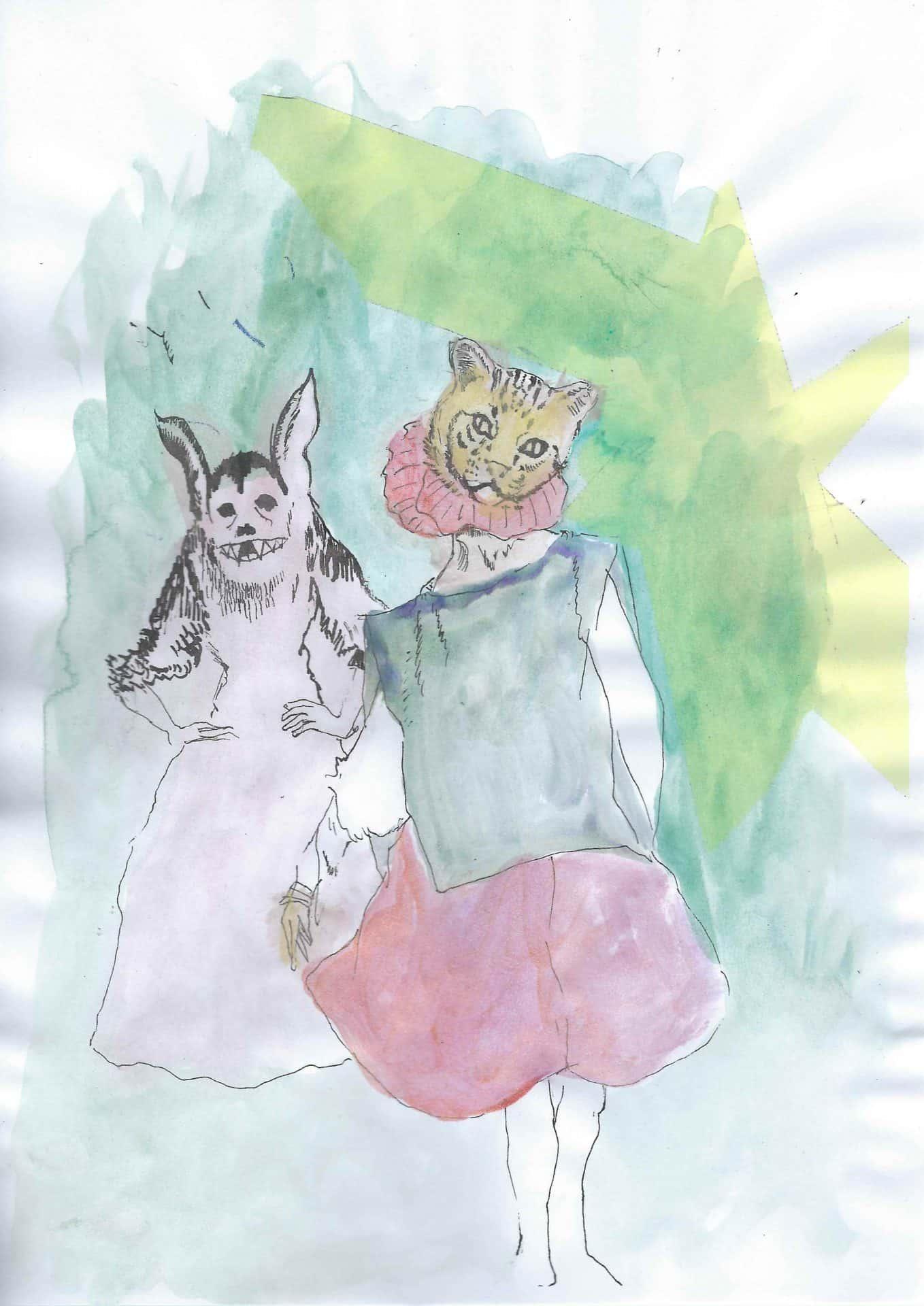 Illustration Mercredi - Peinture aquarelle