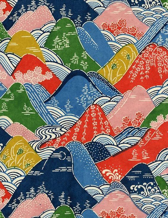 Illustration Mercredi - Dessin de montagne de toutes les couleurs - ©Les papiers de Lucas