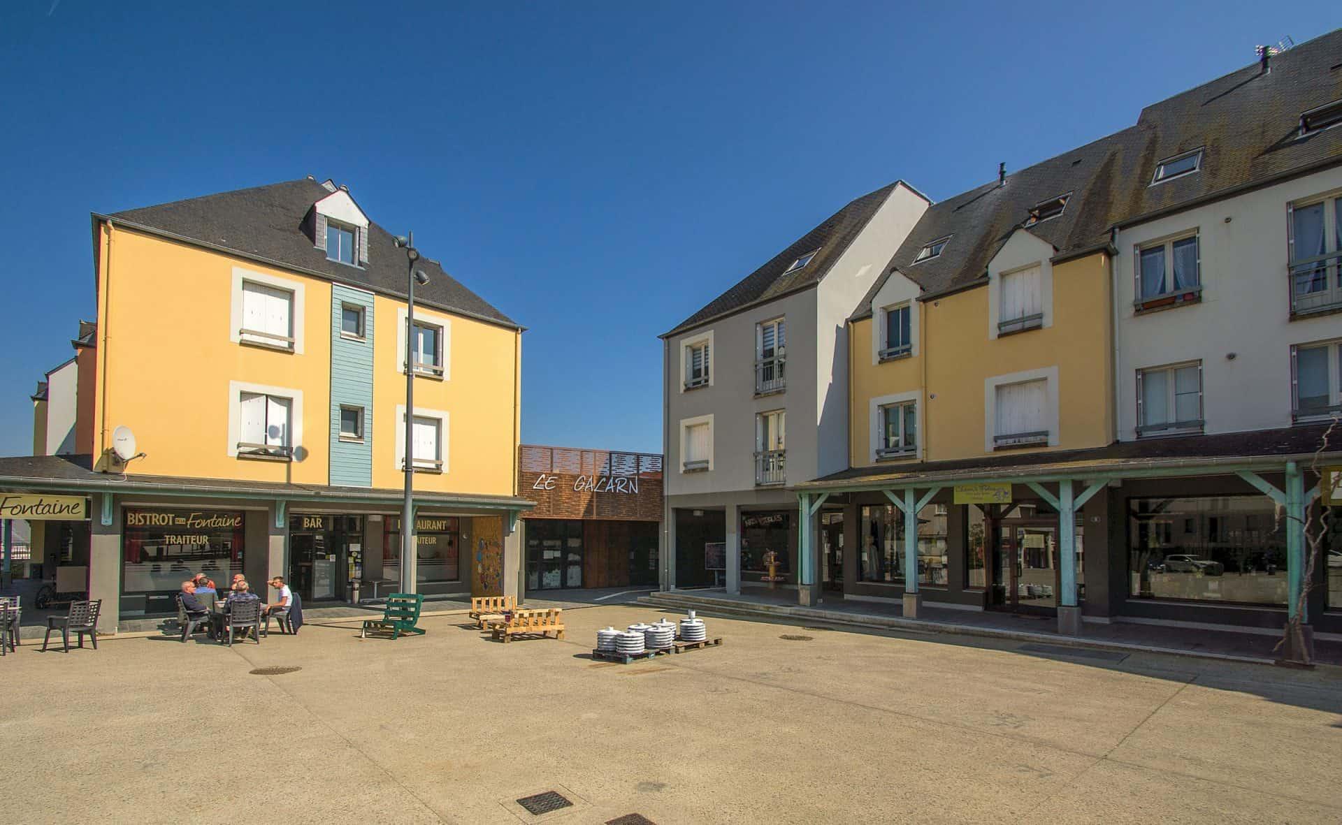 Photo de la place de la Fontaine - Saint-Erblon